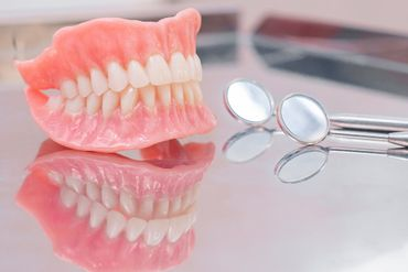 a view of removable dentures